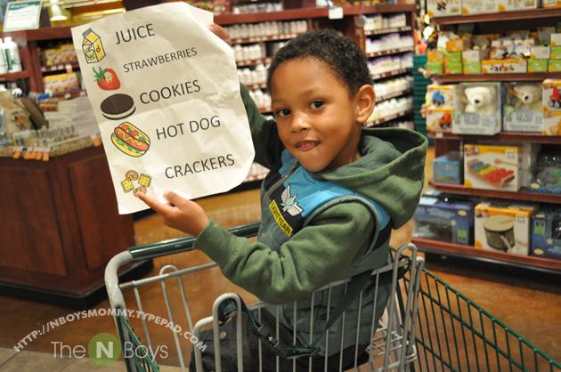their very own shopping list nboysmommy s blog